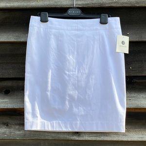 Jessica petites white cotton mini skirt